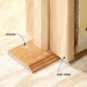 Avoid trimming door bottoms
