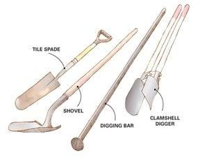 The big 4 posthole tools