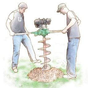 Rent a power auger