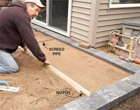 Photo 4: Flatten the sand