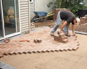 to cover a concrete patio with pavers - Ideas For Covering Concrete Patio