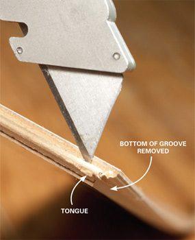 Photo 3: Remove the bottom lip