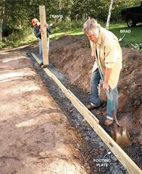 Photo 1: Level the gravel base