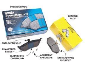 Premium vs. generic brake pads