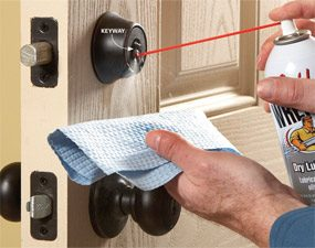 how to fix a door lock that is jammed