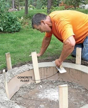 how to build a shot put ring