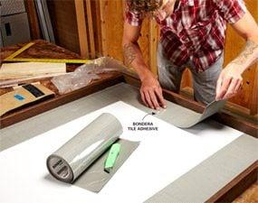 Photo 7: Lay the tile mat