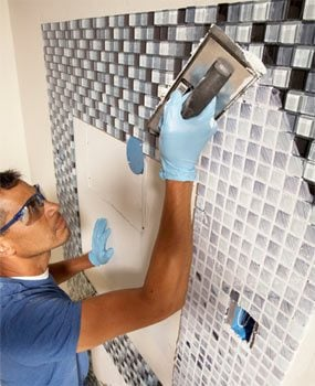 Photo 8: Grout the tile