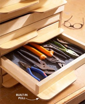 Store Your Tools in This Handy Tray Tower
