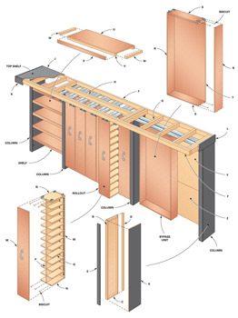 Figure A: Garage storage system
