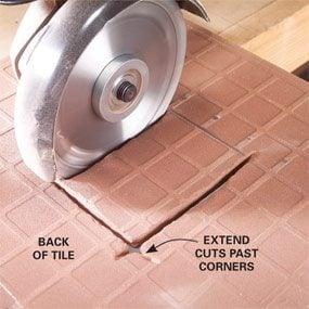 Cut outlet holes