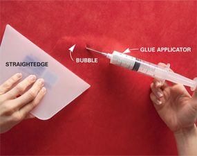 Use glue applicator to apply adhesive