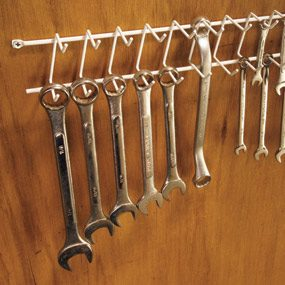 Garden Tool Storage Ideas 16 brilliant diy garage organization ideas A Wrench Rack From The Clothes Closet Clever Tool Storage Ideas