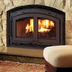 Use airtight fireplace doors