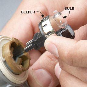 Install a beeper bulb