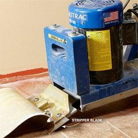 Photo 2: Guide the machine down each strip