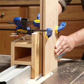 Photo 3: Mortise the rails