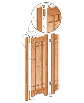 Room divider technical drawing
