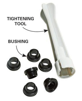 Photo 1A: Close-up of bushing kit