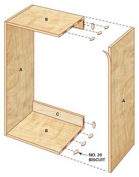 Technical drawing of large closet organizer box and its dimensions.
