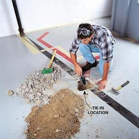 How To Plumb A Basement Bathroom The Family Handyman