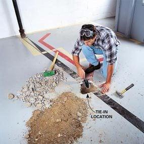 Photo 1: Locate the main drain