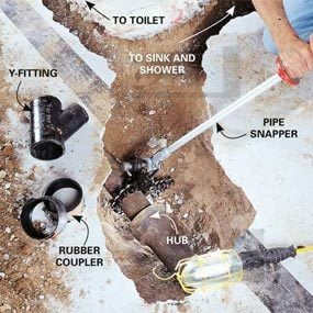 Build the drain system & How to Plumb a Basement Bathroom | The Family Handyman