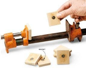 Easy-stick clamp pads