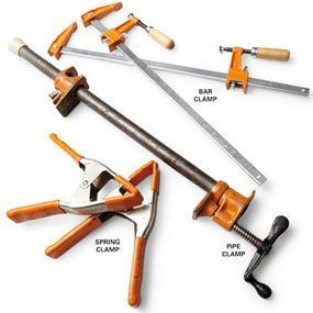 The most useful clamps: bar clamps, pipe clamps and spring clamps