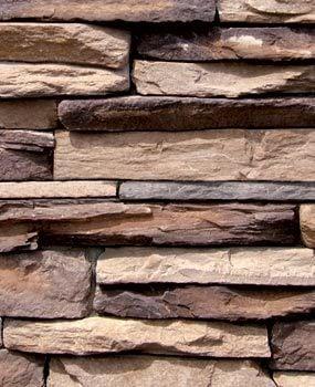 Modern stone veneer wall