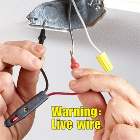 electrical tips replacing a light fixture the family handyman rh familyhandyman com installing a light without a ground wire installing a ceiling light ground wire