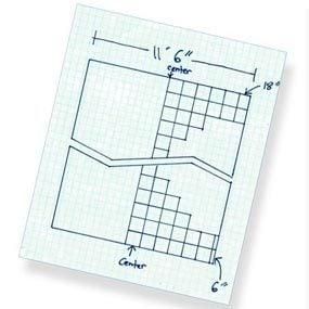Ceiling grid sketch