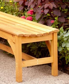 Finished garden bench