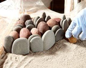 Photo 3: Arrange stones in a pattern