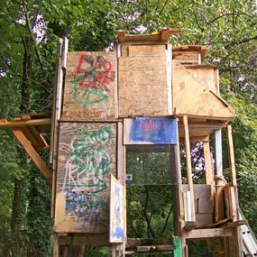 Tree house built by a 13-year-old