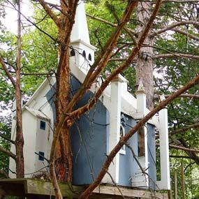 Tree house in a tree house village
