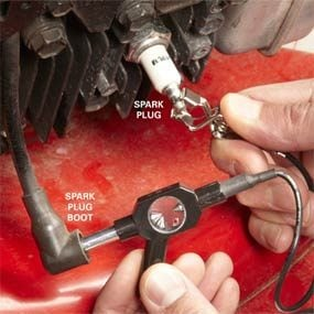 Testing the ignition coil and the spark plug