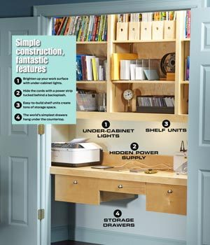how to turn a closet into an office | family handyman