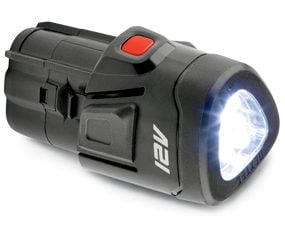 Craftsman lithium-ion battery with LED flashlight mounted in one end