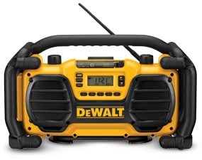 DeWalt Worksite Charger/Radio in outdoor weather-resistant casing