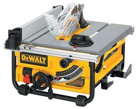 Table saw review photo of the DeWalt DW745