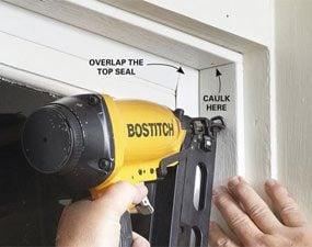 Photo 7: Nail on self-sealing door stop