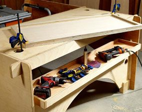 DIY table saw table can be used as an assembly table