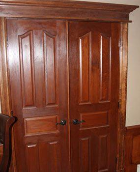 Solid cherry door trim