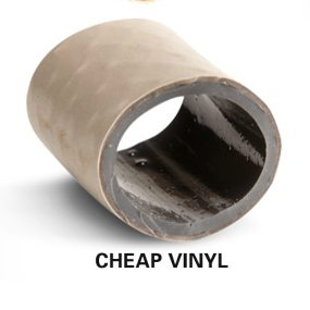 Cut-away section of a cheap vinyl hose