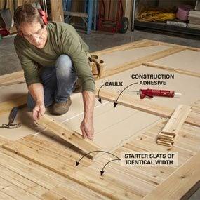 Photo 7: Install the slats