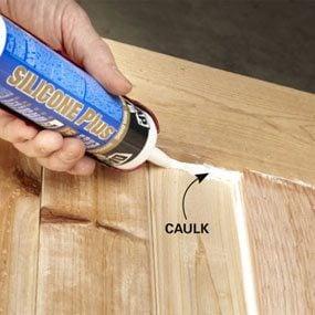 Photo 8: Caulk the slats