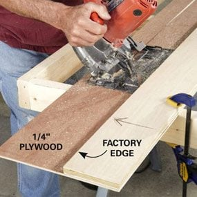 Assemble and trim the new saw guide