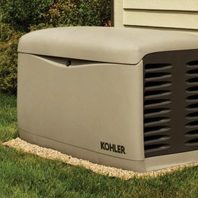 Permanently installed generator
