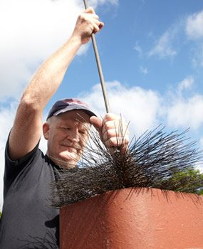 Photo 5: Brush the flue